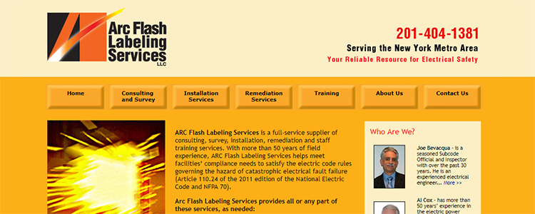 Arc Flash Labeling Services